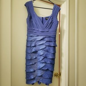Adrianna Papell blue purple periwinkle dress 8